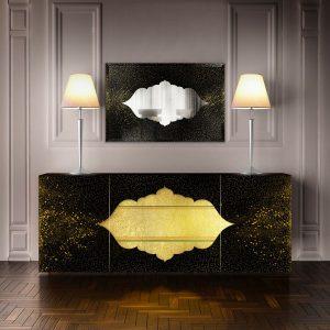 Odalisca sideboard & mirror