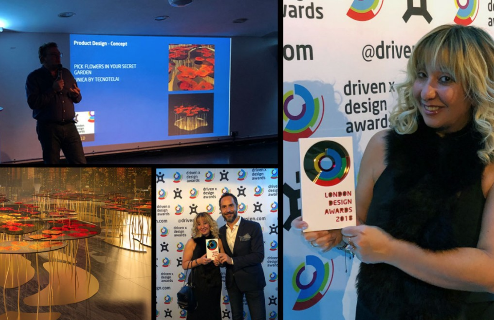 UNICA WINS THE GOLD AWARD AT THE LONDON DESIGN AWARD 2018 WITH PAPAVERI